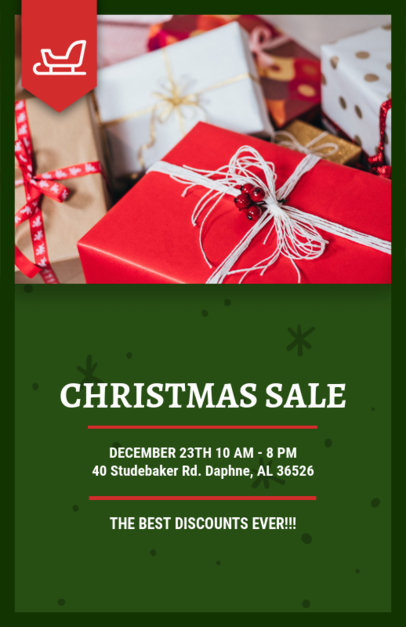 Online Flyer Template for a Christmas Sale 858a