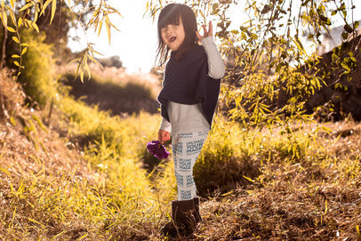 Mockup of a Little Girl Wearing Leggings Outdoors 23936