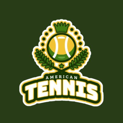 Tennis Logo Creator with Tennis Graphics 1600a