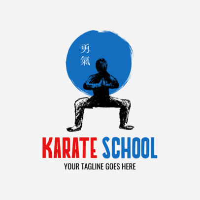 Martial Arts Logo Creator for a Karate School 1605a