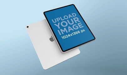 Render Mockup of an iPad Pro Floating Against Another iPad 24463