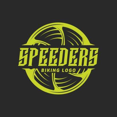 Simple Cycling Team Logo Maker 1570a