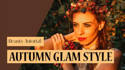 YouTube Thumbnail Maker for a Glam Style Vlog 934e
