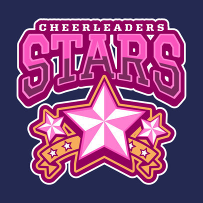 Cheerleader Logo Maker with Star Clipart 1598
