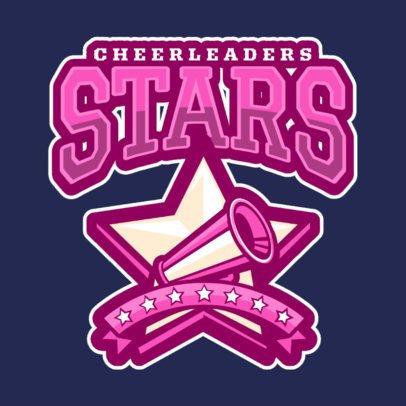 Cheerleader Logo Maker with Star Clipart 1598