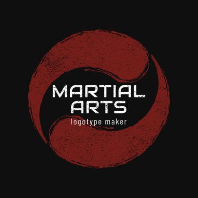 Simple MMA Fighting Logo Maker 1608