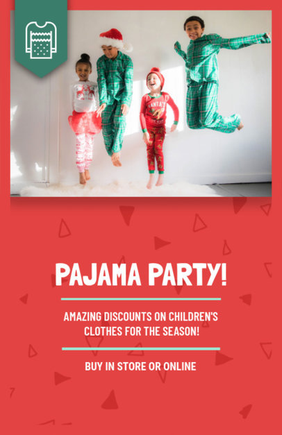 Online Flyer Template for a Pajamas Sale 858e