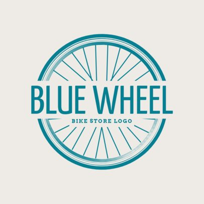 Cycling Logo Maker with a Tire Clipart 1570d