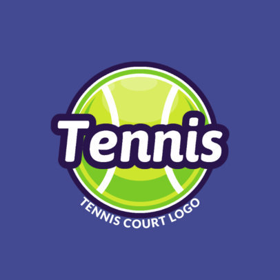 Tennis Logo Maker with Centered Graphic 1603