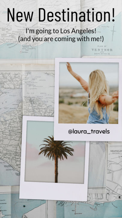 Insta Story Template for a Travel Influencer 960b