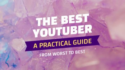 YouTube Thumbnail Design Template for a Vlogger Guide 933b