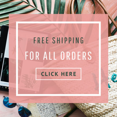 Online Banner Maker to Create a Free Shipping Banner Ad  269f