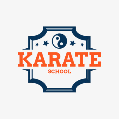 Martial Arts Logo Generator for a Karate School 1607b