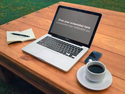 15 Inch MacBook Pro Retina Wooden Table