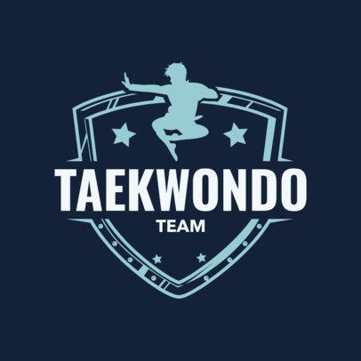 Martial Arts Logo Design Template for a Taekwondo Team 1607d