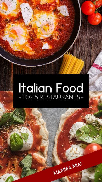 Insta Story Template for an Italian Restaurant Ranking Post 961c