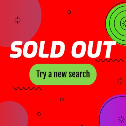 Retro Banner Maker for Sold Out Items 548g