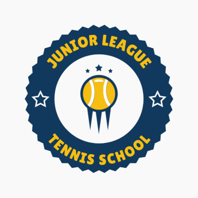 Tennis Logo Generator for a Junior League 1641a