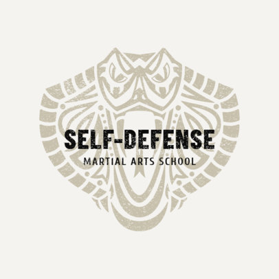 Martial Arts Logo Design Template for Self-Defense Classes 1608a