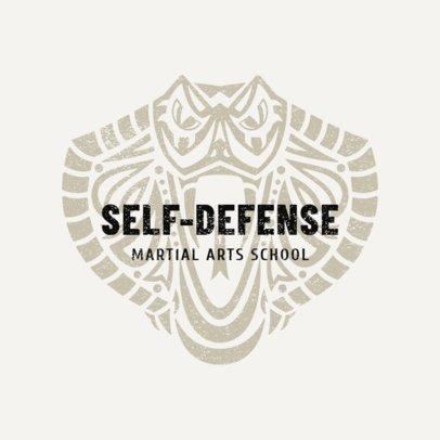 Martial Arts Logo Design Template for Self-Defense Classes 1608a