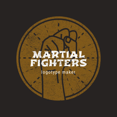MMA Logo Design Template for Martial Artists 1608f