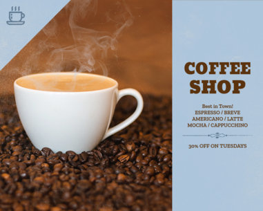Vinyl Banner Template for a Coffee Shop 802b