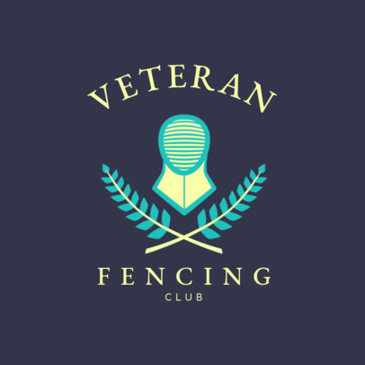 Veteran Fencing Logo Maker 1614a