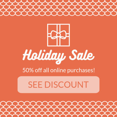 Holiday Sale Banner Creator for a Christmas Offer 777d