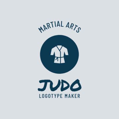 Martial Arts Logo Maker for Judo Classes 1609c