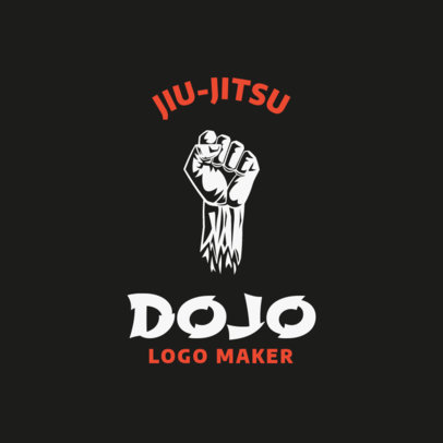Martial Arts Logo Maker for a Jiu-Jitsu Sensei 1609d
