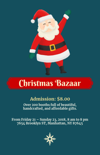 Christmas Bazaar Flyer Maker with Santa 855a