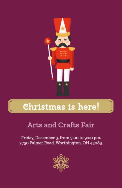 Holiday Flyer Template for a Christmas Fair 855d
