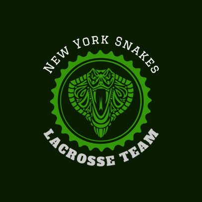 Lacrosse Logo Creator with a Snake Graphic 1593b
