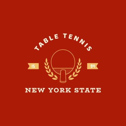 Simple Table Tennis Logo Template 1626