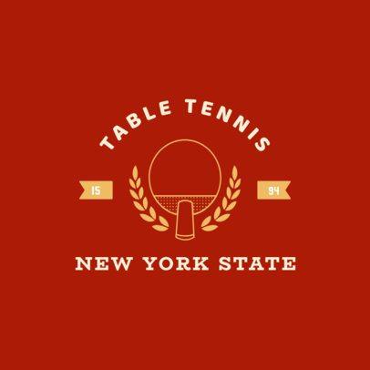 Simple Table Tennis Logo Template 1626