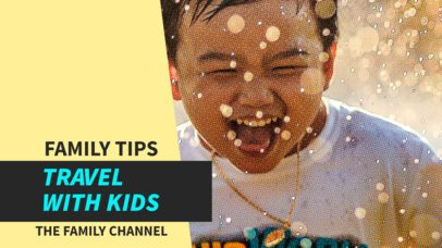 YouTube Thumbnail Maker for a Family with Kids YouTube Channel 896