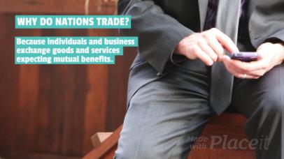 Content Teaser Slideshow Maker for an Economics Video 828