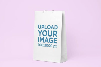 Mockup of a Gift Bag on a Solid Background 24061