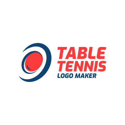 Simple Table Tennis Logo Maker 1623