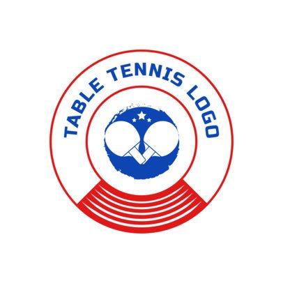 Circular Table Tennis Logo Maker 1627