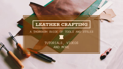 YouTube Thumbnail Creator for a Leather Crafting Channel 889c