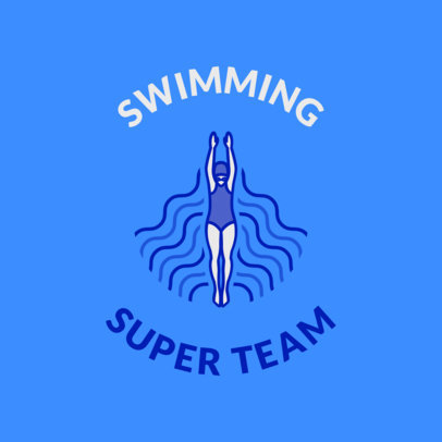 Swimming Team Logo Maker for a Pro Swim Team 1578