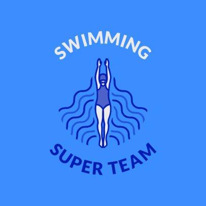 Swimming Team Logo Maker for a Pro Swim Team 1578