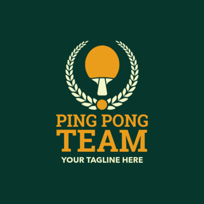 Table Tennis Logo Creator for a Ping-Pong Team 1623e