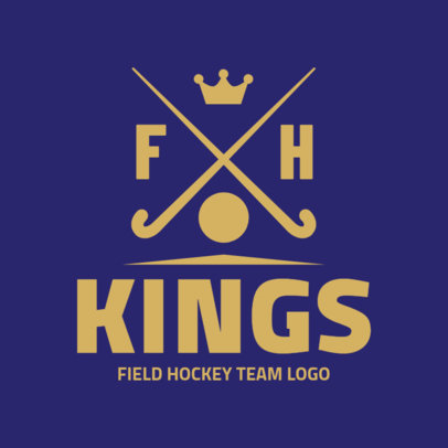 Field Hockey Team Logo Maker 1621a
