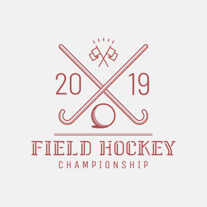 Field Hockey Logo Template 1621d