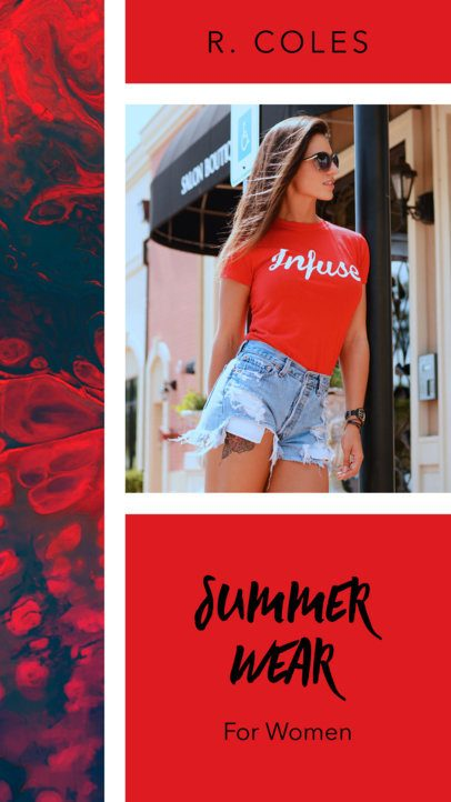 Insta Story Template for a Fashion Story 957