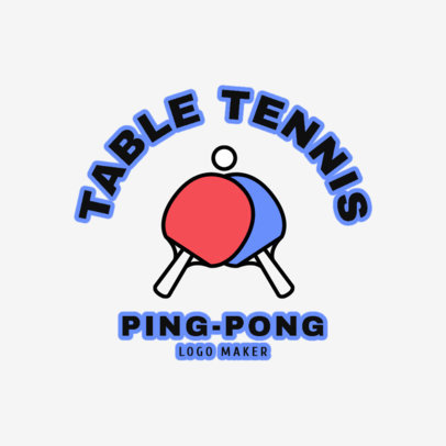 Table Tennis Logo Template 1624