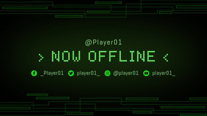 Twitch Offline Banner Maker with a Green Tech Background 975a