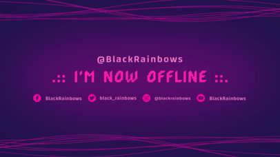 Abstract Twitch Offline Banner Maker with Neon Lines 975d